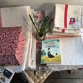 A selection of linen towels and tea towels