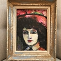 After Vlaminck small portrait of a lady Acrylic on canvas